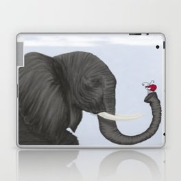 Bertha The Elephant And Her Visitor Laptop & iPad Skin