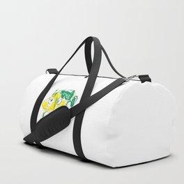 Crazy frog illustration, green frog design, frog pattern for children Duffle Bag
