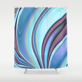 Abstract Fractal Colorways 02PrBl Shower Curtain