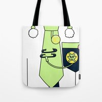 dmmd Tote Bags featuring Noiz Outfit DMMD by Bunny Frost