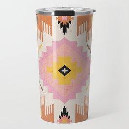 Tribal Kilim Orange Travel Mug