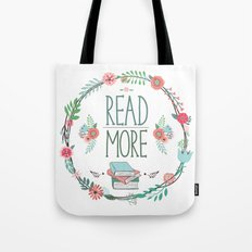 Read More Floral Wreath Tote Bag