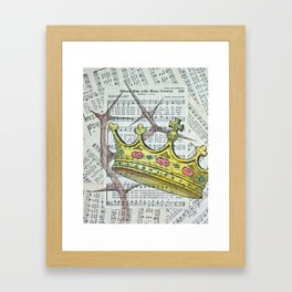 Crown Hymn Framed Art Print