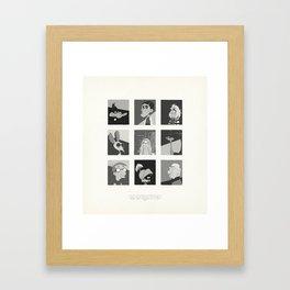 Super Mercredi Bros Heroes (6/8) Framed Art Print