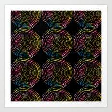 Spirals of Fire Art Print