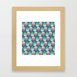 Guy Fieri Repeated Pattern Framed Art Print