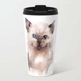 Cat Watercolor Travel Mug