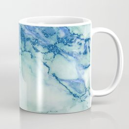 Blue-green faux marble Coffee Mug