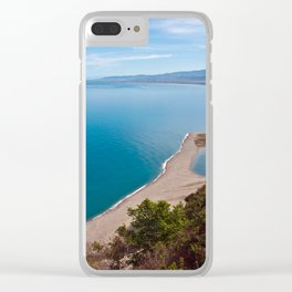 White Lagoon of Tindari on the Isle of Sicily Clear iPhone Case