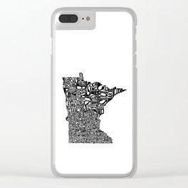 Typographic Minnesota Clear iPhone Case
