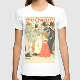 """Théophile Steinlen """"The Street (La rue), poster for the printer Charles Verneau"""" T-shirt"""