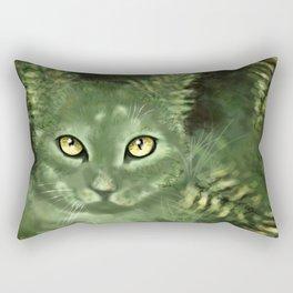Fern Cat- El gato helecho Rectangular Pillow
