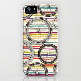 bike wheels stripe iPhone Case