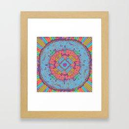 Dragonfly Mandala Pattern Framed Art Print