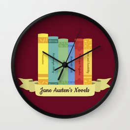 The Jane Austen's Novels III Wall Clock
