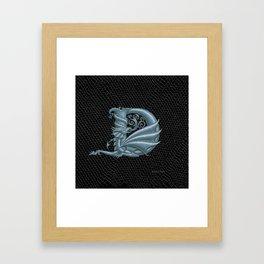 Dragon Letter D, from Dracoserific, a font full of Dragons. Framed Art Print