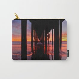 HB Sunsets / Sunset At The Huntington Beach Pier  12-8-15 Carry-All Pouch
