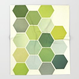 Shades of Green Throw Blanket