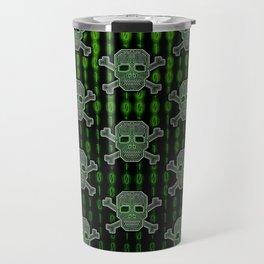 Hacker Skull Crossbones (pattern version) Travel Mug