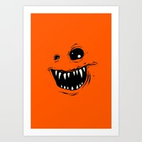 monty python Art Prints featuring Monty by Nicholas Ely