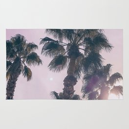 Palm Tree Art Print {2 of 3} | Magenta Pastels Topical Beach Plant Nature Vacation Sun Vibes Artwork Rug