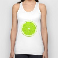 lime Tank Tops featuring Lime by Avigur