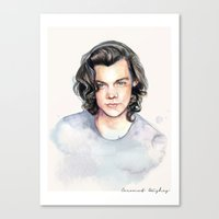 coconutwishes Canvas Prints featuring Harry Watercolors II by Coconut Wishes
