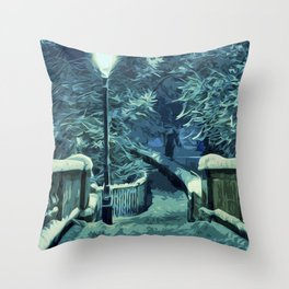 Snowy Nights Throw Pillow