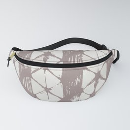 Simply Braided Chevron Red Earth on Lunar Gray Fanny Pack