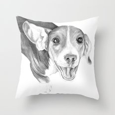 A Story To Tell :: A Beagle Puppy Throw Pillow