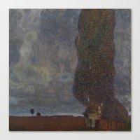 gustav klimt Canvas Prints featuring Gustav Klimt - Approaching Thunderstorm by TilenHrovatic