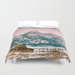 Grand Tetons Barn Duvet Cover