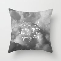 gangster Throw Pillows featuring Gangster by shelby | gordon