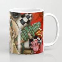 tank girl Mugs featuring Tank Girl Nouveau by Megan Mars