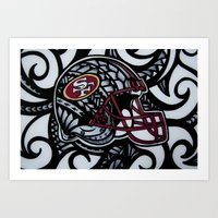 49ers Art Prints featuring POLY STYLE 49ERS by Lonica Photography & Poly Designs