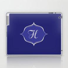 H Monogram Royal Blue Laptop & iPad Skin