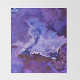 ultra violet marble Throw Blanket
