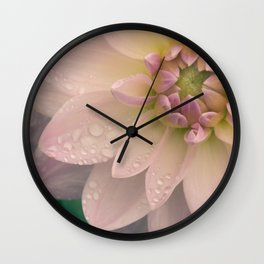 Dahlias & Raindrops, 2 Wall Clock