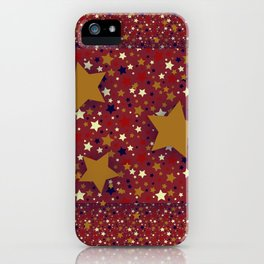 Gold Star Red iPhone Case