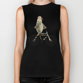 dashing mr tweet Biker Tank