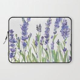 lavender garden watercolor Laptop Sleeve