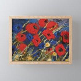 Poppy field Framed Mini Art Print