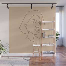 Line Drawing Portrait V Wall Mural
