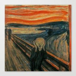 The Scream by Edvard Munch, circa 1893 Canvas Print