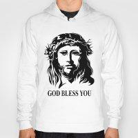 christ Hoodies featuring Tribal Christ by TurkeysDesign