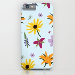 Maine Wildflower Pattern iPhone Case