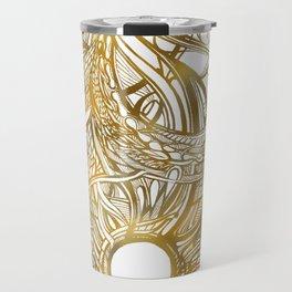 GOLDEN FLORAL PATTERN - BRONZE OR GOLD Travel Mug
