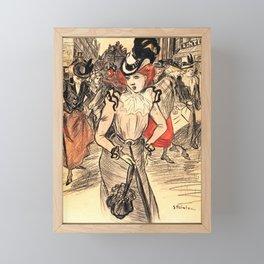 "Théophile Steinlen ""Il n'y est pas"" Framed Mini Art Print"