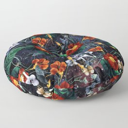 Nasturtium Night Floor Pillow