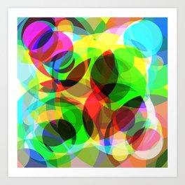 Abstract Leaf Art Print